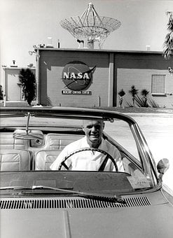 Car, Convertible, Vehicle, Nasa, Mercury Control Center