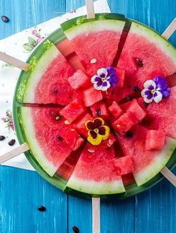 Watermelon, Summer, Sweet, Berry, Fruit, Closeup, Fresh