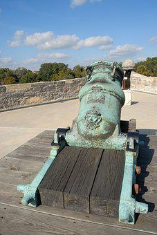 Cannon, Weapon, Spanish, Castillo, Castle, San Marcos