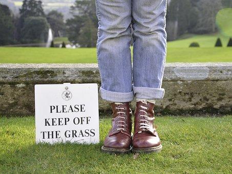 Rule Breaker, Boots, Grass, Footwear, Outdoor, Girl
