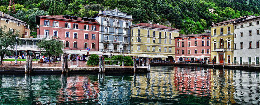 Landscape, Lake, Hotel, Riva Del Garda, Nature, Green