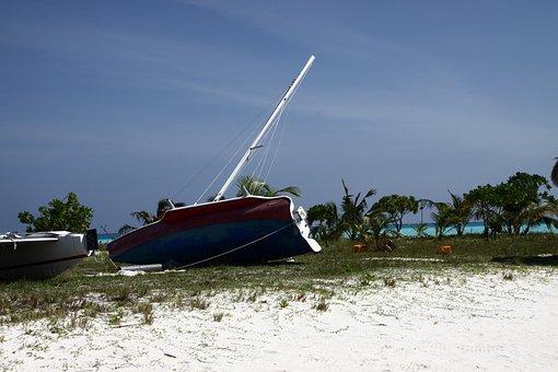Maldives, Water, Sea, Beach, Boat