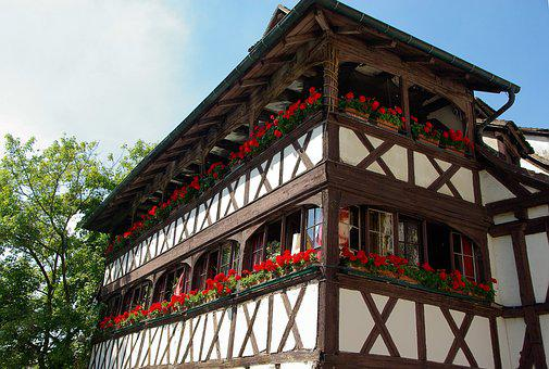 Alsace, Strasbourg, Timbered House, Medieval Town