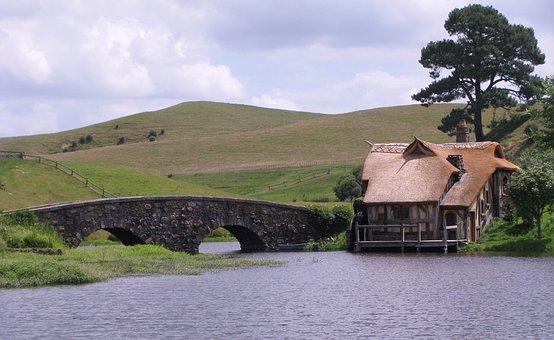 Hobbiton, New Zealand, Shire, Tourism, Bridge, Movie