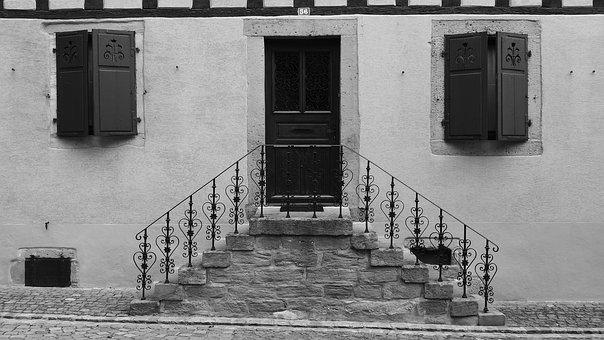 Stairs, Porch, The Entrance To The House, France