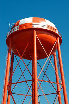 Water Tower, Structure, Tank, Water, Tower