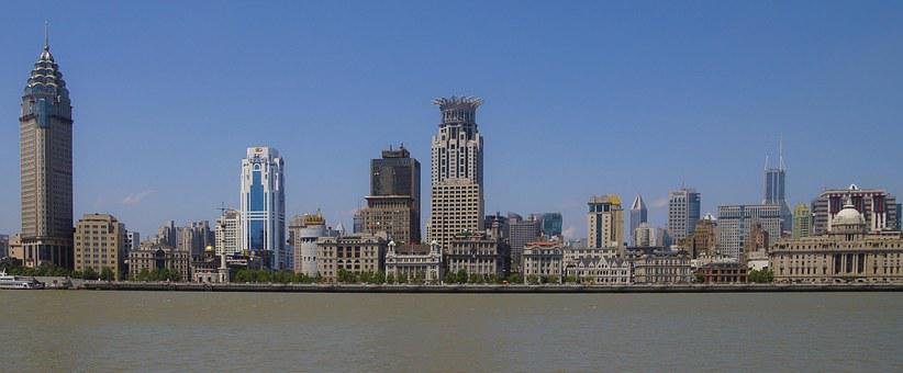 Shanghai, China, Panorama, Architecture, Asia, City