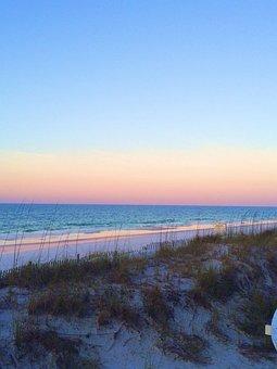Sunset, Sunrise, Beach, Ocean, Water, Sand, Destine