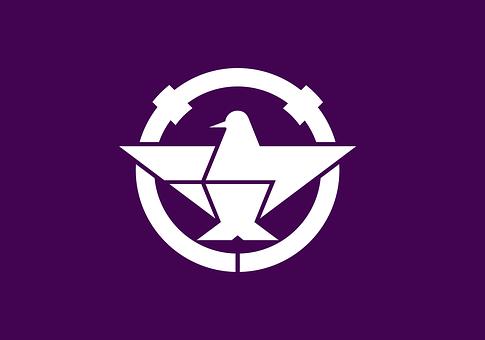 Flag, Bird, Blue, White, Ibaraki, Municipality, Osaka