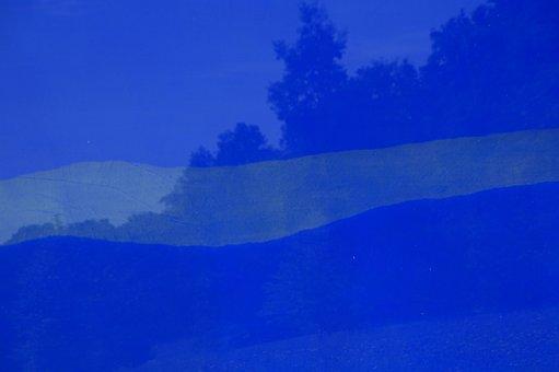 Glass, Blue, Mirroring, Artwork, Reflect, Art, Object