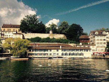 Zurich, Lindenhof, Switzerland, River
