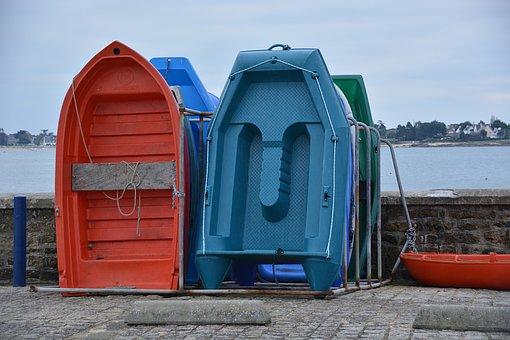 Boats, Port, Wharf, Water, Fishermen, Fishing, Blue