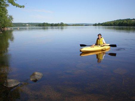 Kayak, River, Peaceful, Kayaking, Water