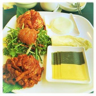 Korean Meal, Spicy Pork, Wrap