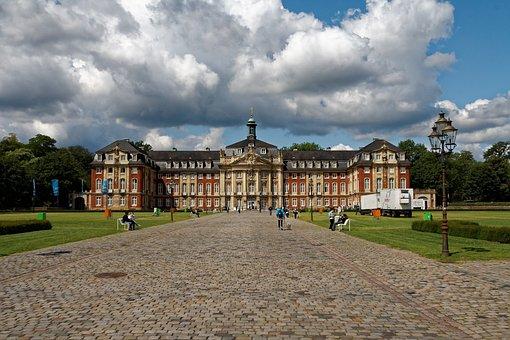Castle, Münster, Building, Park, Architecture