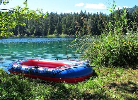 Lake Cresta, Lake, Boat, Trees, Nature, Forest
