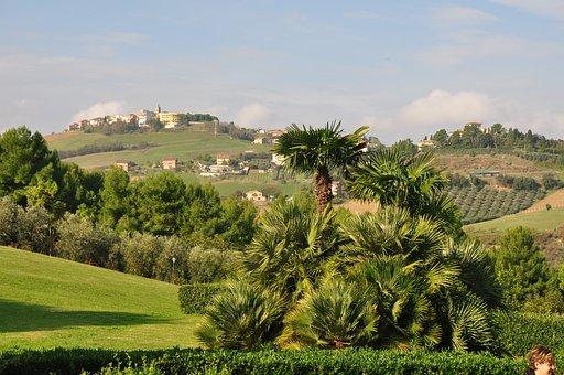 Porto San Giorgio, Italy, View Of The Hills