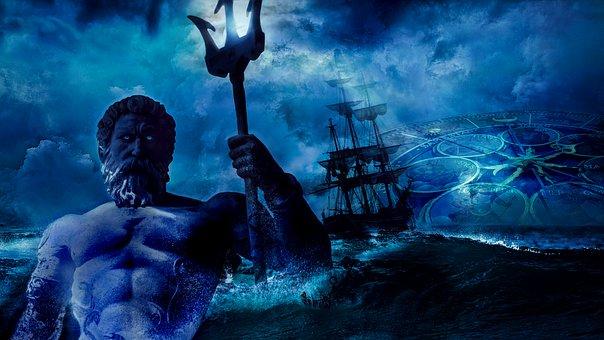 Composing, Aquarius, Neptune, Zodiac Sign, Poseidon
