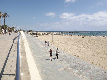 Barcelona, Olympic Village, Beach