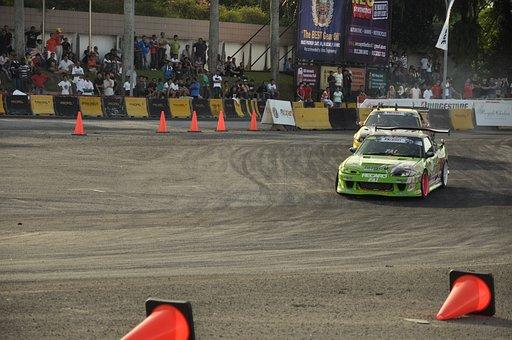 Car Racing, Drift, Race, Power, Extreme, Curve, Track