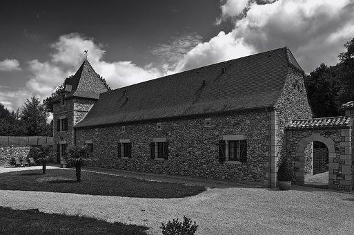 Rouffignac, France, Lodge, Building, Architecture, Sky