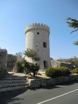 Tower, Croatia, Cres, Architecture, Europe, Building