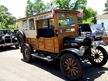 Antique, Car, Automobile, Vintage, Woody