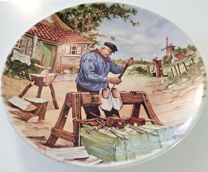 Holland Plate, Hand Decorated, Royal Schwabap, 1984
