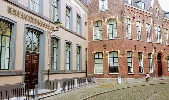 Breda, Houses, Street, Facade, Old, House, Windows
