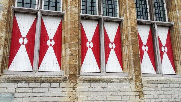 Netherlands, Bergen Op Zoom, Facade, House, Window, Old