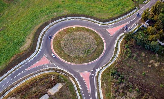 Roundabout, M60 Motorway, Péterpuszta, Pecs