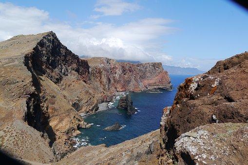 Madeira, Cliff, Coast, Hike, Stone, Sea, Rock