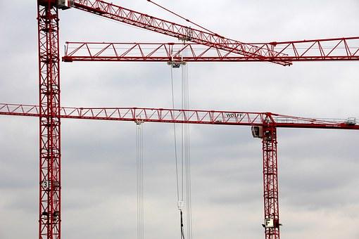 Crane, Structure, Technology, Construction, Work, Site