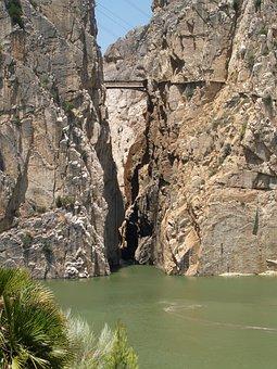 Malaga Guevas, Water, Rock, Summer, Spain