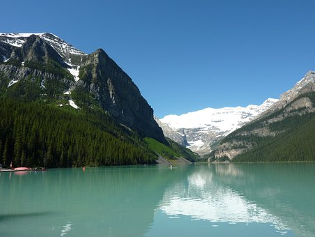 Louis Lake, Mountains, Lake, Landscape, Wilderness