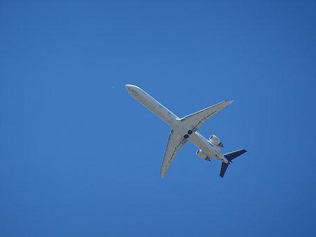 Aircraft, Passenger Machine, Sky, Blue, Technology