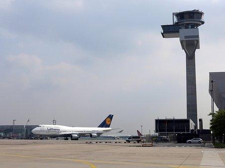 Lufthansa, Tower, Air Traffic Control, Airport