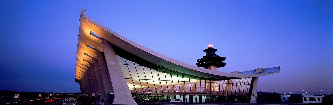 Dulles, Airport, Building, Airport Building
