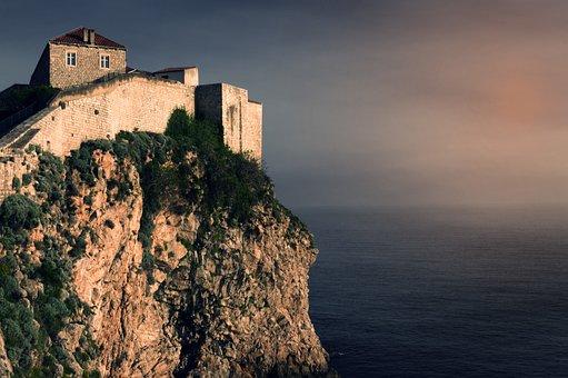Old Town, Dubrovnik, Croatia, Rocks, City, Architecture