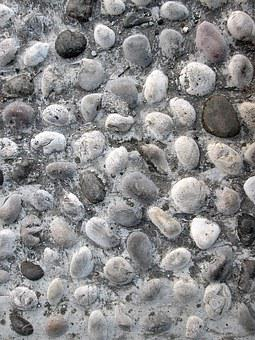 Pebbles, Background, Texture, Pattern, Monochrome, Grey
