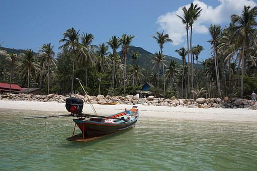 Thailand, Beach, Boat, Sea, Summer, Travel, Sand