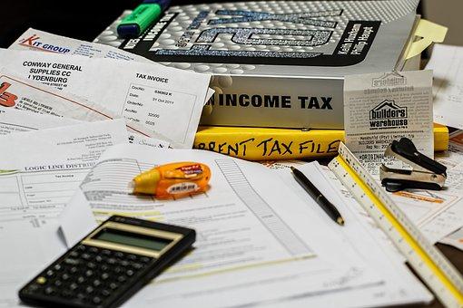 Income Tax, Calculation, Calculate, Paperwork, Tax