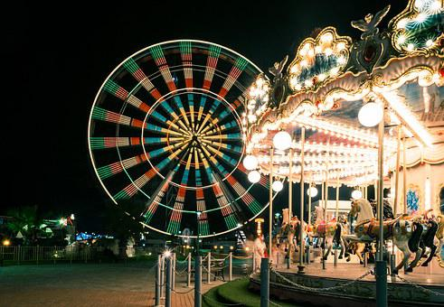 Amusement Park, Blurred Motion, Carnival, Carousel