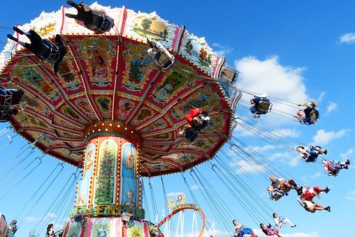 Chain Carousel, Fly, Aviator Carousel, Fun