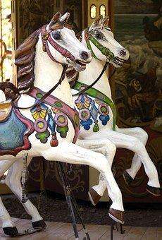 Carousel, Horse, Children, Rocking Horse, Karusellpferd
