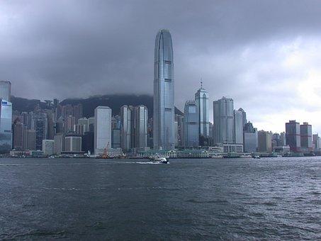 Hong Kong, Skyline, China, Chinese, City, Cities