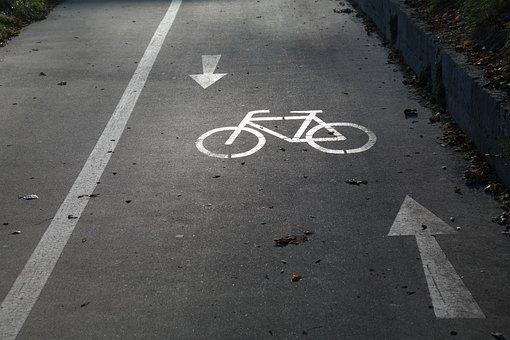 Cycle Path, Gauge, Bicycle Path, Bike, Away, Road, Tar