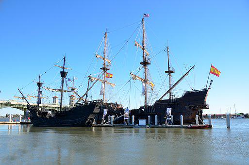 Galleon Ships, Historic, St, Augustine, Florida, Docked