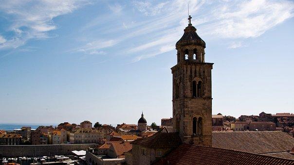 Tower, Roofs, Church, Dubrovnik, Croatia, Old, Dalmatia