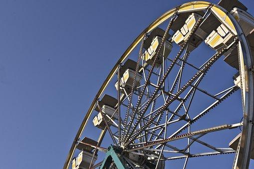 Ferris Wheel, Ride, Dusk, Wheel, Ferris, Park, Fun